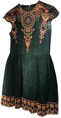 Valentino Green Lace Dresses