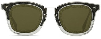 Fendi 47MM Two-Tone Square Sunglasses