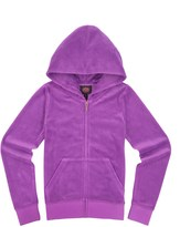 Juicy Couture Girls Logo Velour Flight Of Juicy Original Jacket