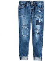 SO Girls 7-16 & Plus Size SO® Frayed Patch Girlfriend Jeans