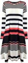 Fashion Box Women's Long Sleeves Plus Size Wetlook Plain Swing Hanky Dress