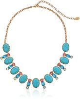 "Sorrelli Caribbean Coral"" Cabochon Oval and Crystal Classic Necklace, 16.625"" + 4""extender"