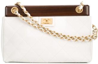 Chanel Pre Owned 2003-2004 Wooden Chain Shoulder Bag