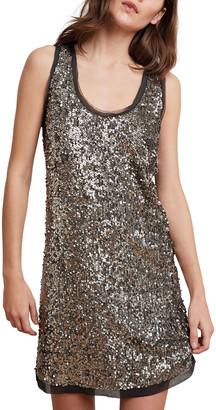 Velvet Carmela Sequined Sleeveless Shift Dress