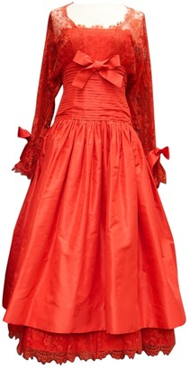 Nina Ricci Red Lace Dress for Women Vintage