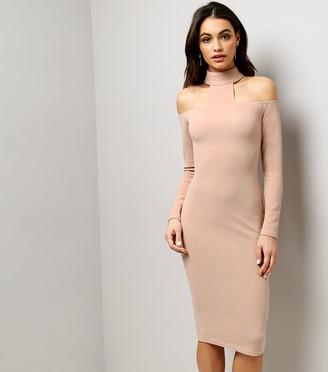New Look AX Paris High Neck Midi Dress