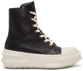 D.gnak By Kang.d Black and Off-white Leather High-top Sneakers