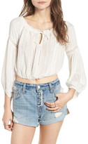 Lush Crop Peasant Blouse