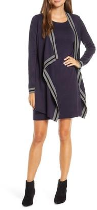 Harper Rose Mock Jacket Long Sleeve Sweater Dress