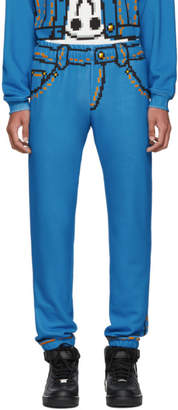 Moschino Blue The Sims Edition Pixel Trompe lOeil Sweatpants