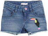 Billieblush Toucan Stretch Denim Shorts