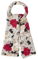 Magaschoni Cashmere Floral Scarf