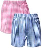 Charles Tyrwhitt Pink and Blue Gingham 2 Pack Boxers Size XL