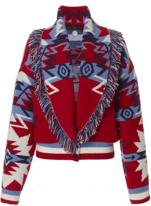 Alanui Cali Star Cardigan Bomber Jacket