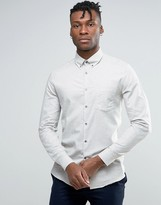 Reiss Slim Smart Shirt In Melange