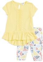 Splendid Infant Girl's Ruffle Shirt & Print Leggings Set