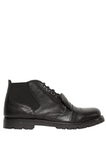 Neil Barrett Hammered Leather Low Boots