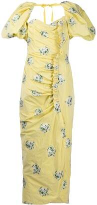Giuseppe di Morabito Floral-Print Ruched Dress