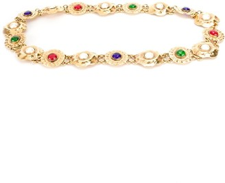 Chanel Pre Owned 1980s Jewelled Medallion Belt