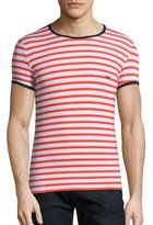 Emporio Armani Striped Crewneck Tee