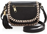 Milly Astor Small Contrast Whipstitch Saddle Bag