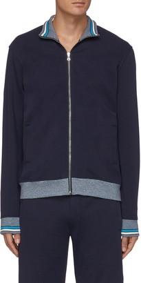 Orlebar Brown EGERTON' Colour Rib Stripe Trim Stand Collar Full Zip Track Jacket