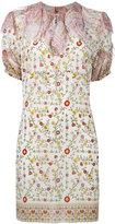 No.21 ruffle neck floral print dress - women - Silk - 42