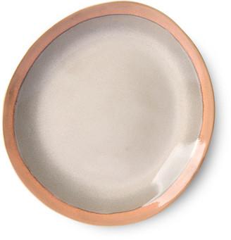 HKliving - Ceramic 70's Side Plate: Earth (Set of 2) - ceramic | 22