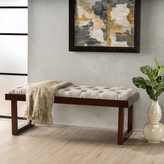 Christopher Knight Home Bayer Tufted Fabric Ottoman Bench