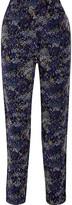 Joie Mandara printed silk-chiffon straight-leg pants