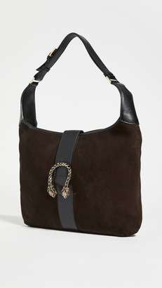 Shopbop Archive Gucci Tiger Hobo Suede Leather Bag
