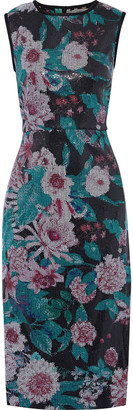 Diane von Furstenberg Arielle Floral-print Sequined Stretch-jersey Midi Dress