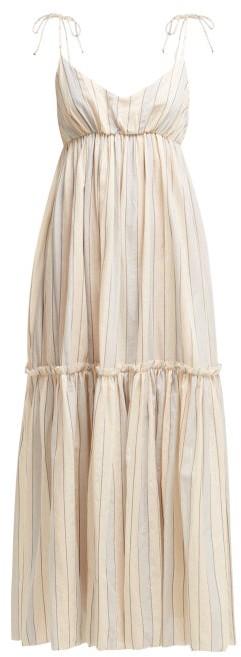 Zimmermann Bowie Striped Cotton Blend Dress - Womens - Multi