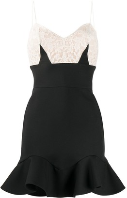 Alexander McQueen Lace Top Fitted Dress