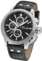 TW Steel 'CEO Adesso' Quartz Stainless Casual Watch, Color:Black (Model: CE7001)