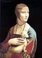 Leonardo 1art1 Posters Da Vinci Poster Art Print - Dama Con L'ermellino (12 x 9 inches)