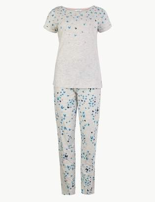 M&S CollectionMarks and Spencer Butterfly Print Short Sleeve Pyjama Set