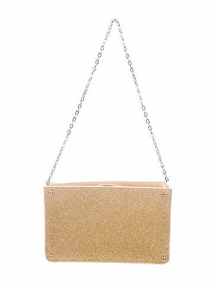 Overture Judith Leiber Glitter Acrylic Evening Bag Gold