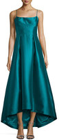 Black Halo Adashi Sleeveless High-Low Gown, Green