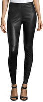 Veronica Beard Palladium Lamb Leather Leggings, Black