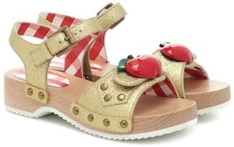 Gucci Kids Embellished glitter sandals