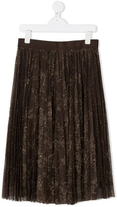 Ermanno Scervino TEEN pleated midi skirt