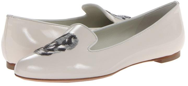 Alexander McQueen Patent Skull Slipper Women' Slip on Shoe