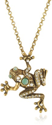 Alcozer & J Brass Frog Necklace