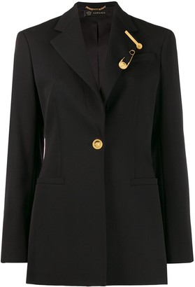 Versace tailored long-length blazer