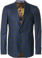 Etro checked two-button suit jacket