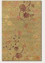 Couristan Impressions Oriental Garden Rug In Sage-Raspberry - 6 Foot x 9 Foot
