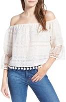 Tularosa Women's Alexa Off The Shoulder Lace Top