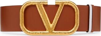 Valentino Garavani Leather VLOGO Belt