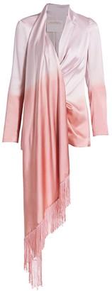 Alejandra Alonso Rojas Dip-Dye Silk Fringe Jacket